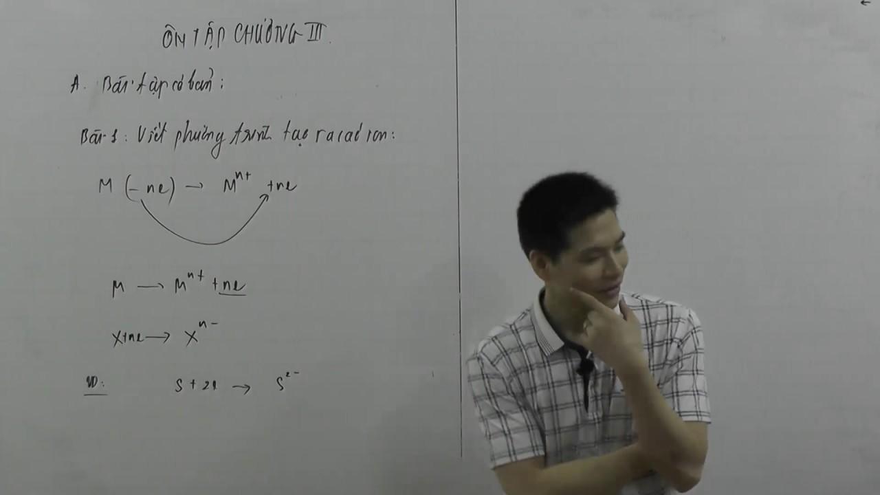 Ôn tập chương 3 hóa lớp 10 phần 1