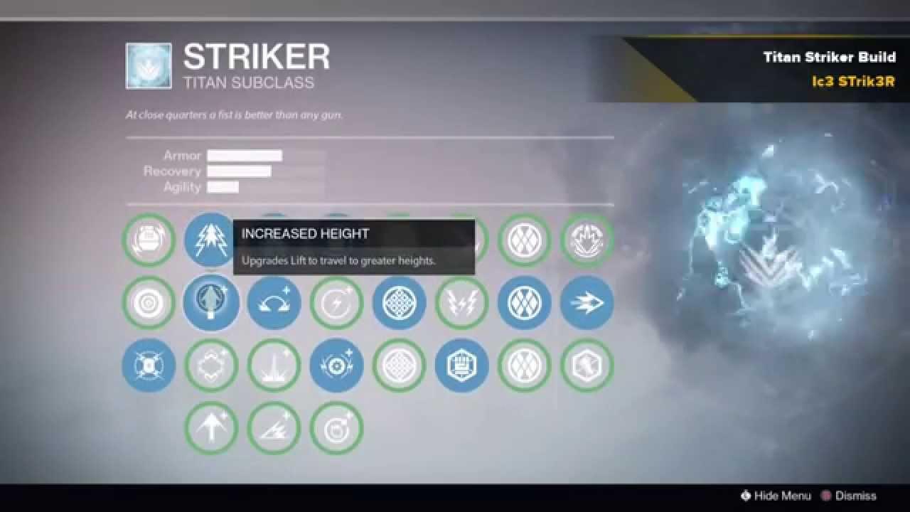 Destiny  Best Striker Build Pvp