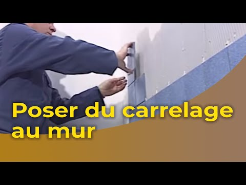 la pose du carrelage au mur - youtube