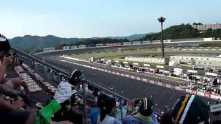 2010インディージャパンでの佐藤琢磨。 予選の模様です。