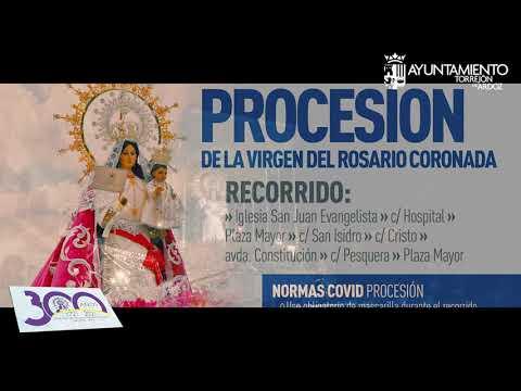 El domingo 3 tendrá lugar la Procesión de la Virgen del Rosario Coronada