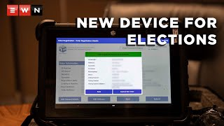 """The Independent Electoral Commission (IEC) will introduce the Voter Management Device (VMD) which will replace the old """"zip-zip"""" devices used for voter registration. It is said to be a technological improvement. Here's an explainer on how it will be used and also how to register online.  #Elections2021 #RegistrationWeekend"""