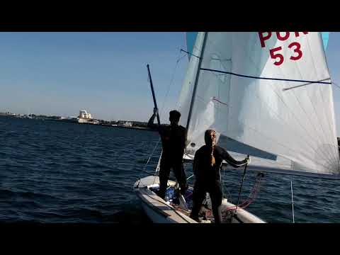 BH Gybe Pole Medium -Mal-Not in a hurry to get pole on, -Newport 6kts (flat) 2017 10 04