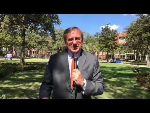 Facebook Live with President Fuchs at Plaza of the Americas