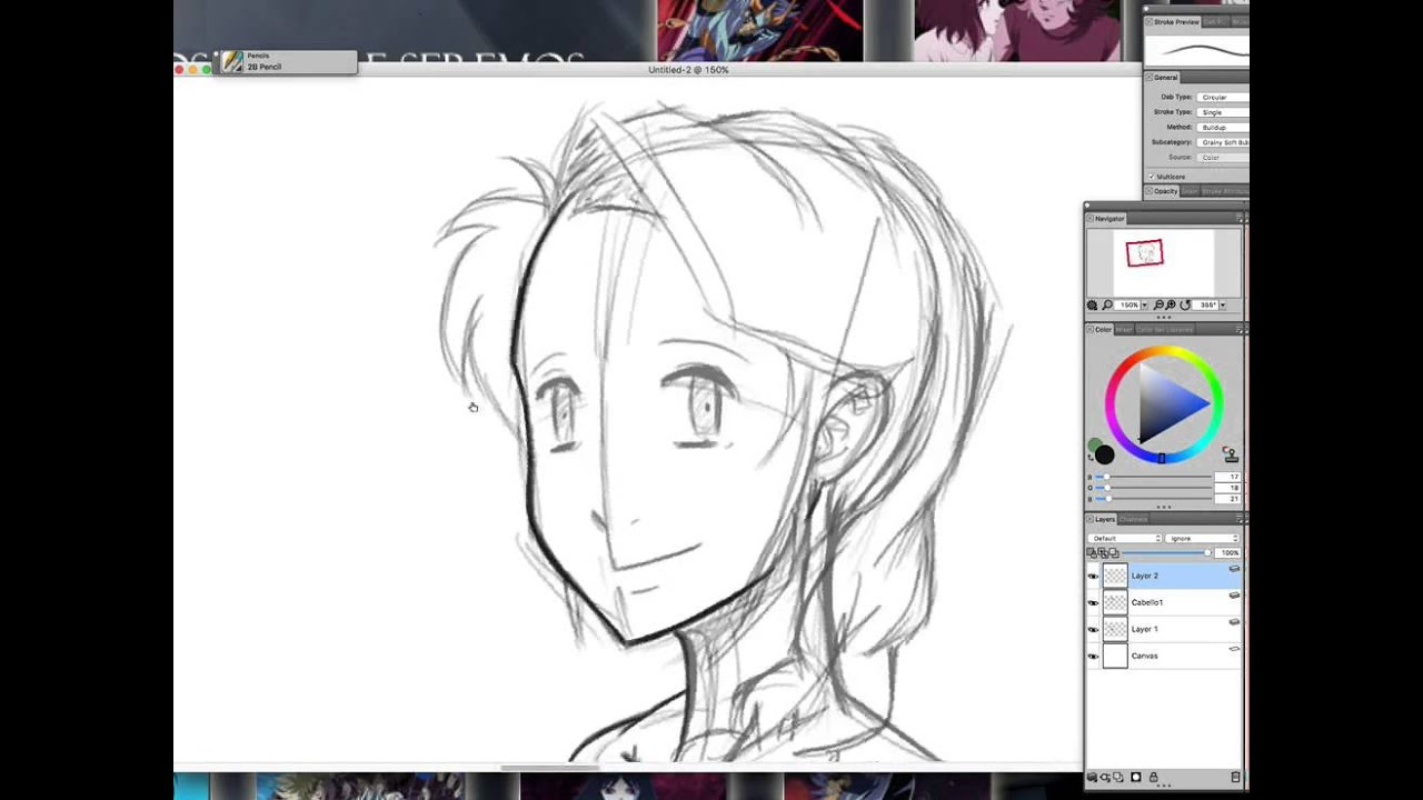 Tutorial como dibujar manga/anime - Rostro 3/4(costado) - YouTube