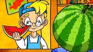 Профессор Почемушкин - Развивающий мультфильм для детей –Почему арбуз называют ягодой?