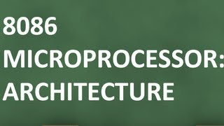 8086 Micrprocessor Architecure: Tutorial 4 On 8086 Architecture
