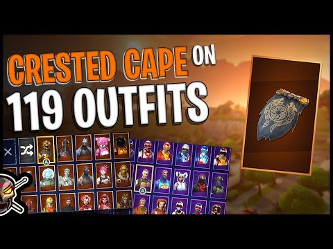 Crested Cape Back Bling On 119 Outfits | Battle Hound - Fortnite Cosmetics