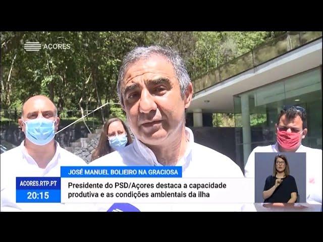 José Manuel Bolieiro destaca condições únicas da ilha Graciosa