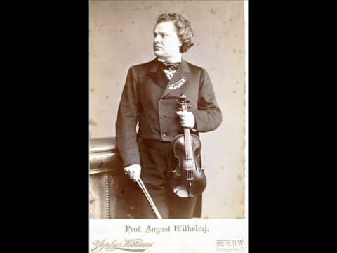 August Wilhelmj (Violin) ~ Le Streghe (Witch's Dance - Paganini) ~ Private cylinder