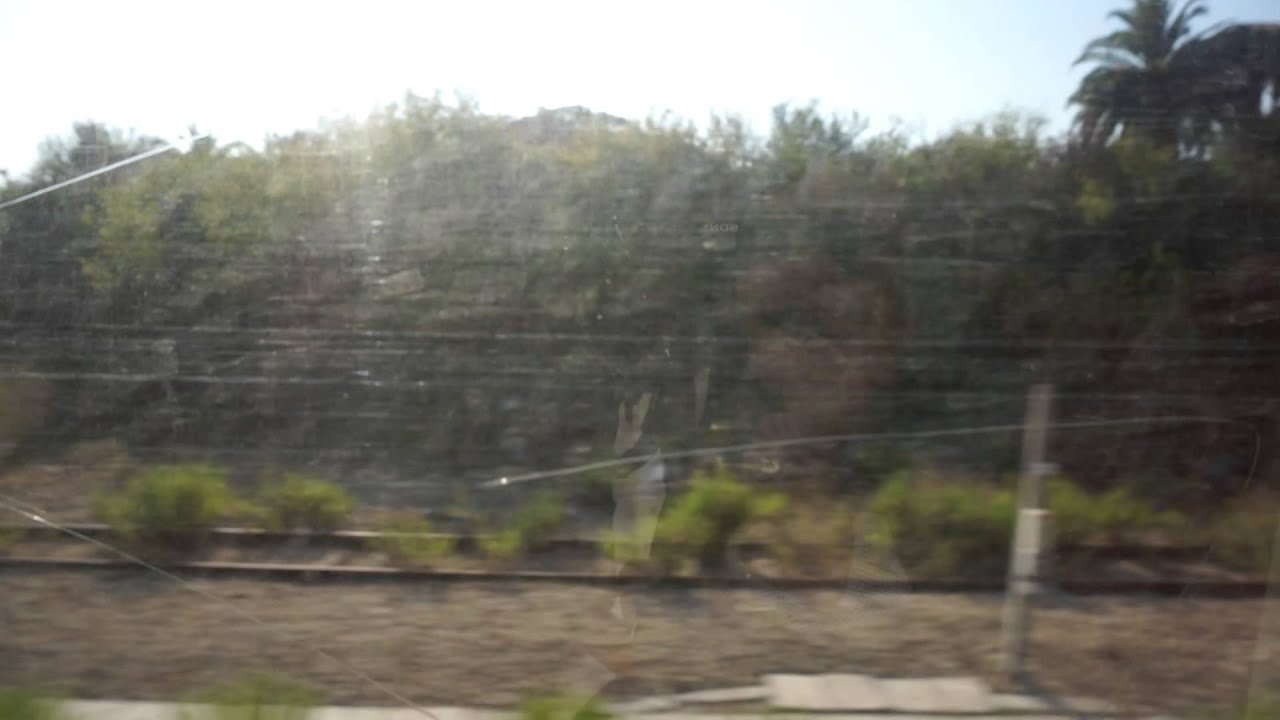 Train Ride from Cannes to Nice-Riquier, Southern France