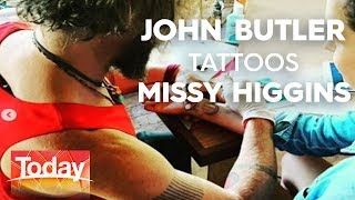 John Butler tattoos Missy Higgins   TODAY Show Australia