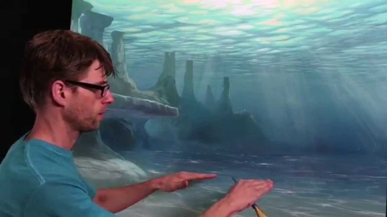 How To Paint Underwater Sea Floor YouTube - Ocean floor painting