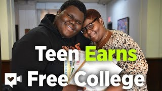 Emotional moment when teen finds out his college tuition is free | Humankind