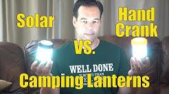 Solar Camping Lantern Vs Hand Crank Camping Lantern