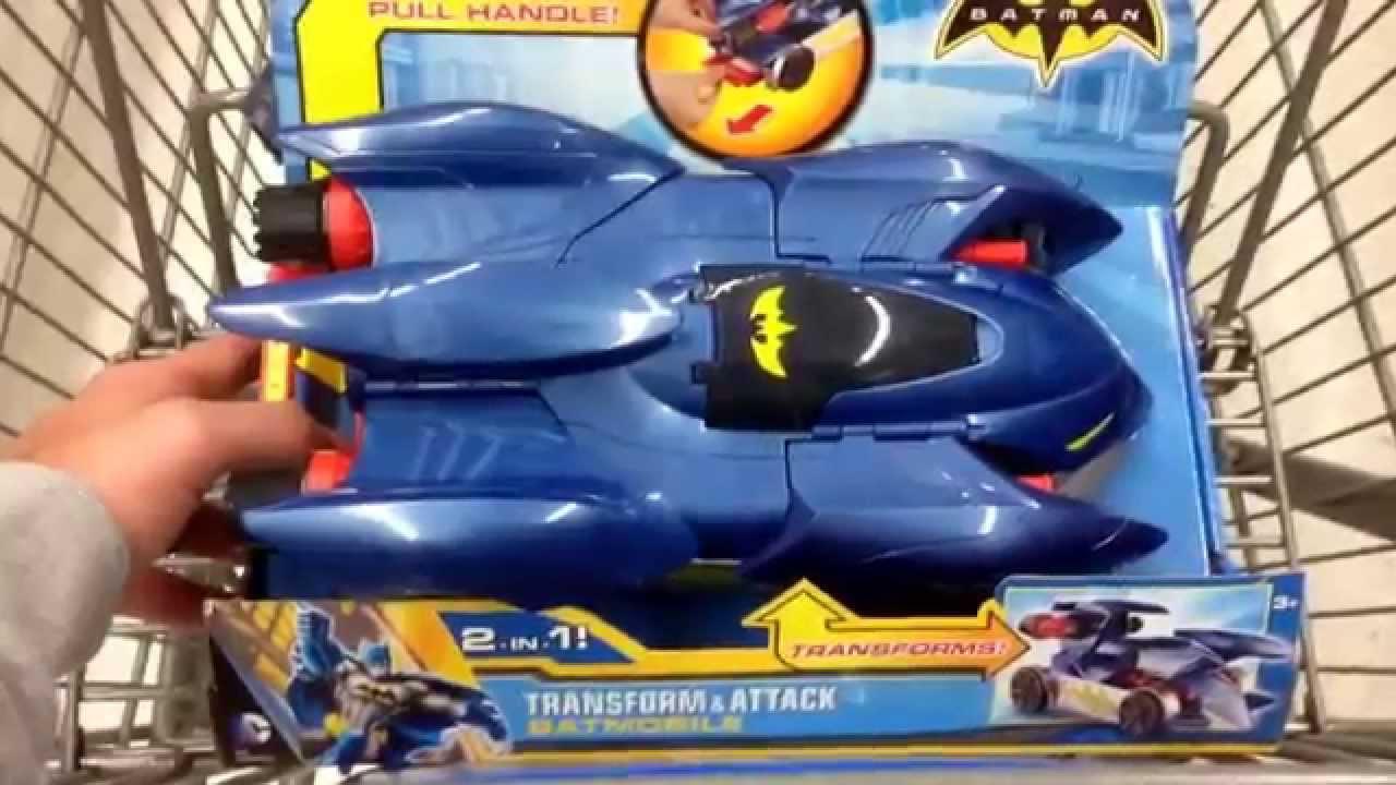 Batman Transform Attack Batmobile 2 In 1 Action Car Toy Toy