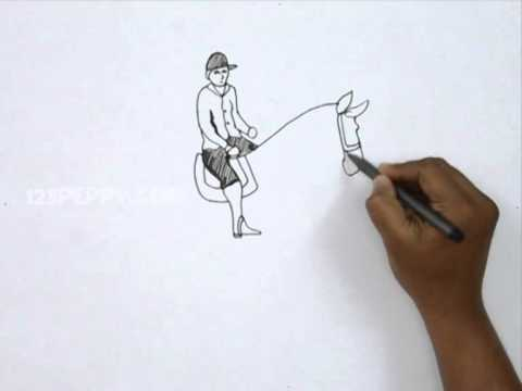 How to draw an equestrian rider youtube how to draw an equestrian rider ccuart Gallery