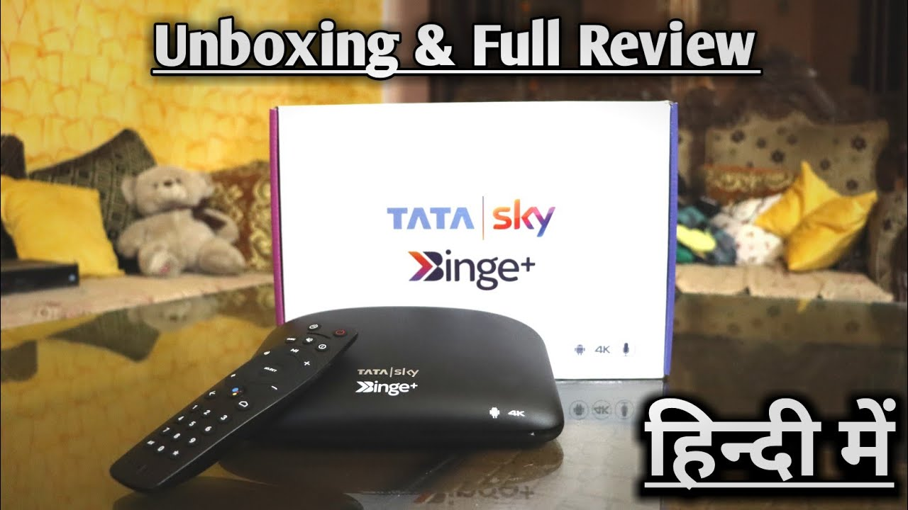 Tata Sky Binge + Android 4K Set Top Box Unboxing & Review in Hindi | Tata Sky बिंज + Review हिंदी मे