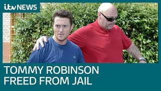 Tommy Robinson freed on bail after winning contempt challenge | ITV News