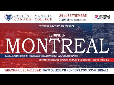 Webinar con Canada College de Montreal en espanol