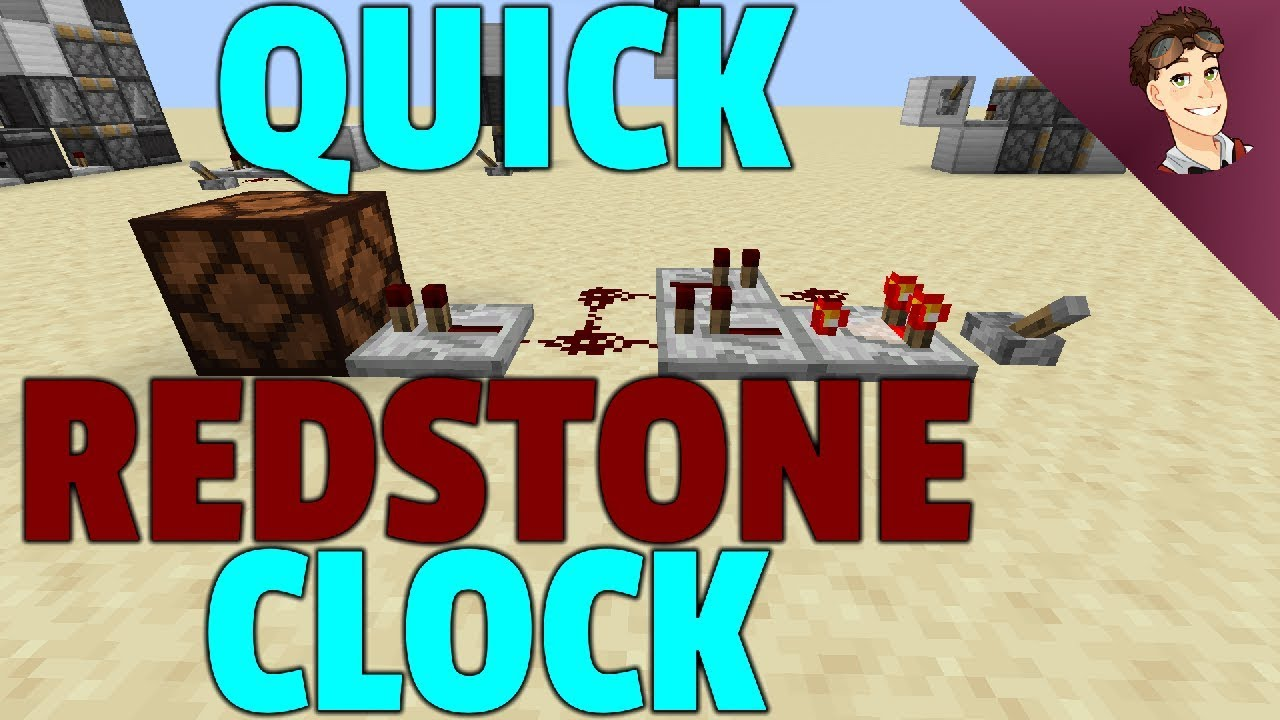 How to build a QUICK REDSTONE CLOCK