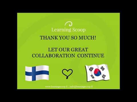 Learning Scoop training teachers in South Korea