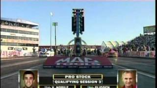 Bob Glidden Vincent Nobile Pro Stock Rd3 Qualifying Indy Mac Tools US Nationals 2010.mpg