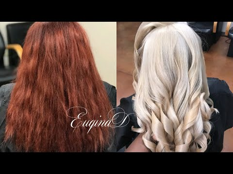 Red Box Colors to BLONDE Transformation
