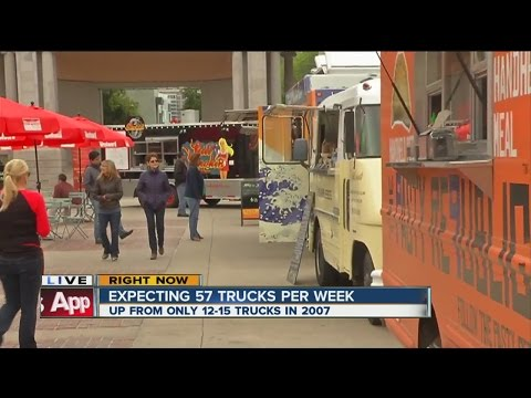 Food Truck Festival Underway In Downtown