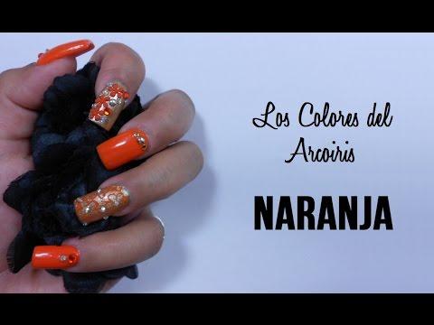 2 \u0026quot;Los Colores del Arcoiris\u0026quot;Diseño de uñas NARANJA