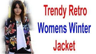 Trendy Retro Flower Print Jacket || Women Coats || Women Jacket  || Best Ladies Blazers  ||