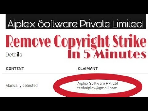[HINDI] How To Remove Copyright Strike From Aiplex Software Private Limited In 5 Minutes