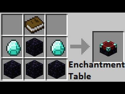 Как сделать в майнкрафте инчант столик