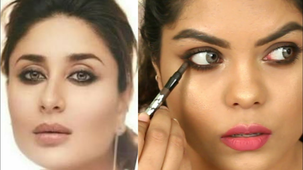 KAREENA KAPOOR KHAN SMUDGED SMOKEY EYE MAKEUP | KOLKATA ...