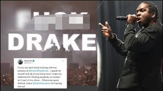 Pusha T GOES OFF On Promoters Who Threw A Drake Diss Graphic On The Screen During Push's Performance