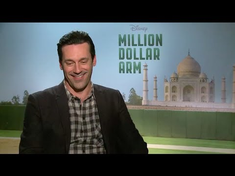 Jon Hamm discusses traveling to India for 'Million Dollar Arm' and reveals 'Frozen' made him cry