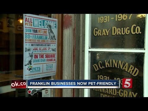 Franklin Downtown Businesses Offer More Possibilities For Pets