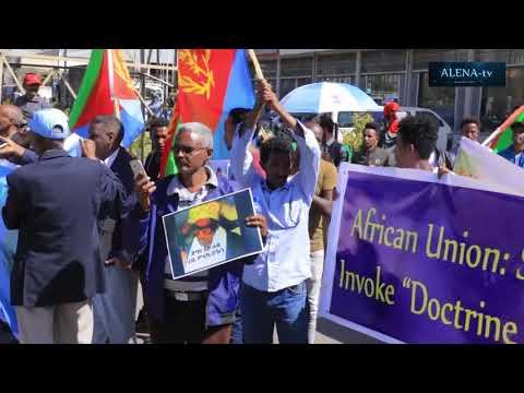 Alena TV - COVERAGE OF THE DEMONSTRATION OF ERITREANS RESIDING IN ADDIS ABABA .