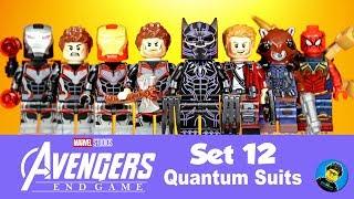 Avengers Endgame Set 12 Quantum Suits Unofficial Lego Minifigures Black Panther Iron Man Spider-Man