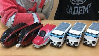プラレール ハッピーセット【2020年第一弾】こまち、ドクターイエロー、パンダくろしお、近鉄名阪特急ひのとり 電車 おもちゃ
