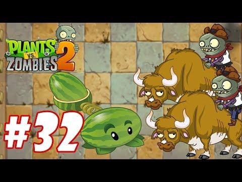 Plants Vs Zombies 2 - Hoa quả nổi giận 2 : Melon-pult vs Zombie Bull #32