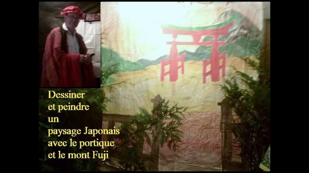 Comment dessiner un paysage japonais en perspective au pinceau youtube - Dessiner un paysage d hiver ...
