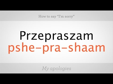 """How to Say """"I'm Sorry"""" in Polish 