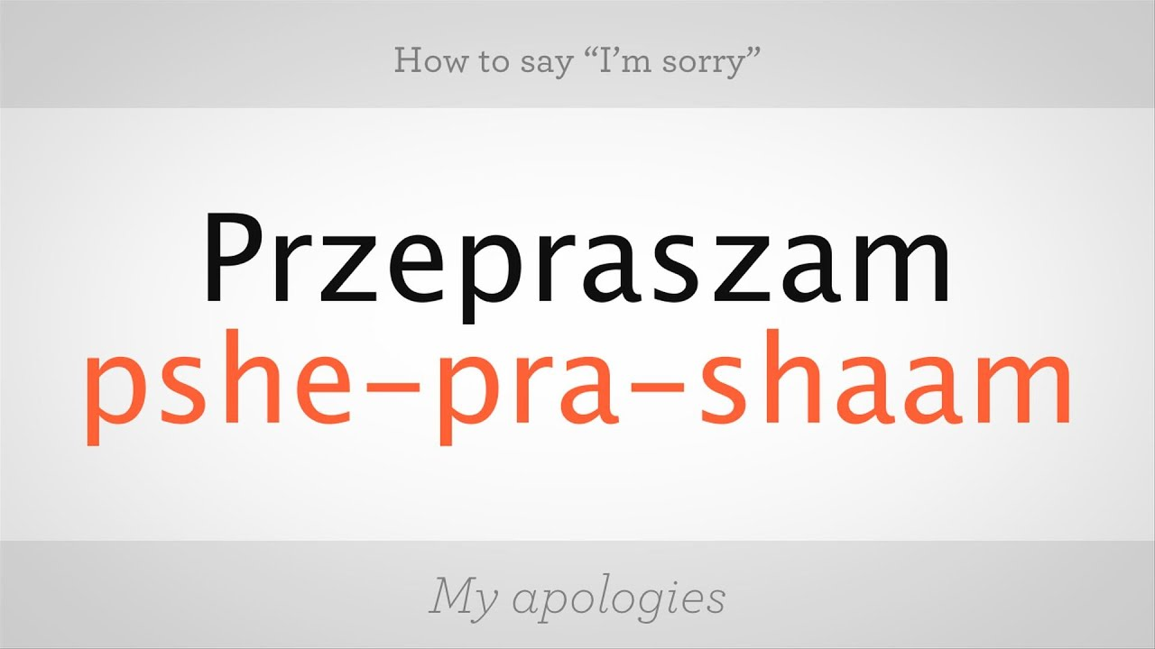How To Say Nice In Polish