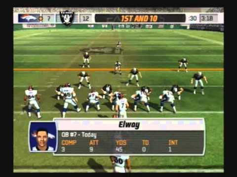 Madden NFL 07 Historic Teams Tournament 1997 Denver Broncos vs 1983 Oakland Raiders