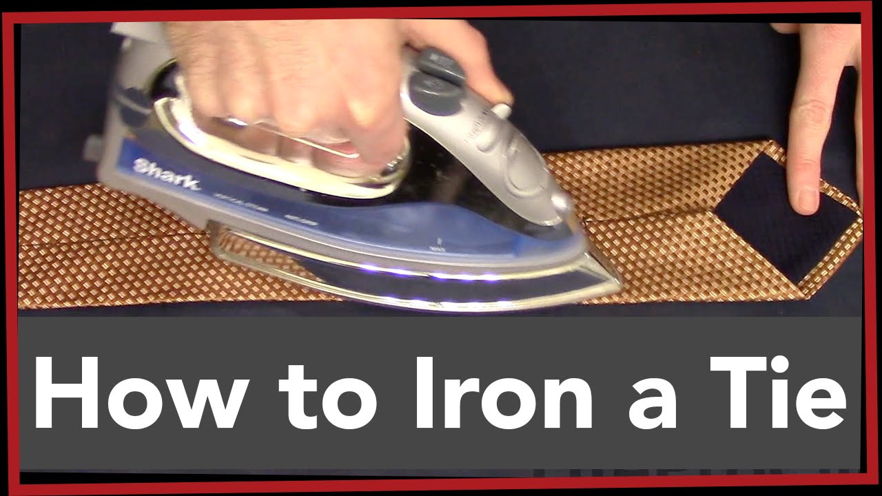 lpc how to iron a tie youtube. Black Bedroom Furniture Sets. Home Design Ideas