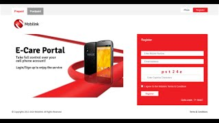 How to create an ecare account on mobilink