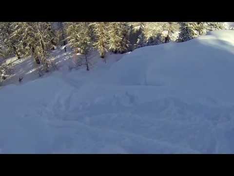 GOPRO 3 HD SKI FREE RIDE SNOWBOARD FOREST VALAIS SUISSE CH 02 2013 dav ride