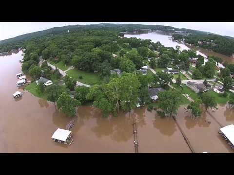 Lake of the Ozarks, from the air,  Flood 2015