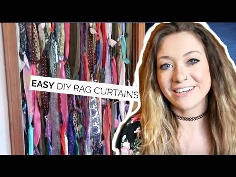 DIY RAG CURTAINS | Laci Jane